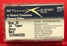 New Listingdentsply Gtx Series Nickel Titanium Rotary Files Size 20 004 25mm