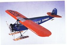 FAIRCHILD 51 REEVES' AIRWAYS MODEL AIRPLANE  POSTCARD UNPOSTED