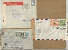 New listing Latin America-Ww2,Very Fine Lot Of 3 Cens Covers,Brazil,Colombia&am p;Nicaragua