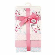 RECEIVING BLANKETS SET 4 COTTON PACK BABY - GIRLS - FLORAL PINK NEW