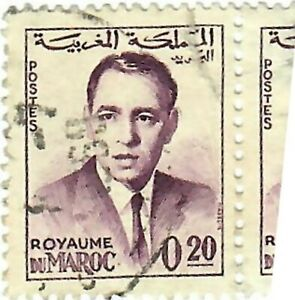 Postage stamp printed in Morocco shows King Hassan II, 1962-1965