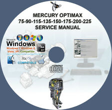 Mercury Optimax 75 90 115 135 150 175 200 225 Service Repair Manual on CD