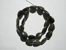 Natural Bronzite Large Tabular Teardrop Gemstone Beads - 18x13x7mm - strand