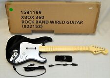 NEW OFFICIAL Rock Band 1 xBox 360 Wired Fender Strat Guitar hero 5 4 the beatles