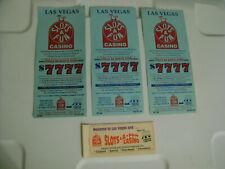 SLOTS A FUN Casino Las Vegas vintage FUN BOOK Coupons / unused