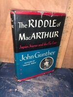 The Riddle Of Macarthur By John Gunther 1st.Edition Book!