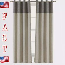 Cherry Home Classic Bamboo Flax Linen Room Darkening Grommet Top Curtain W50x96L