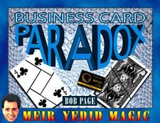 Business Card Paradox By Bob Page & Meir Yedid Magic Trick Puzzle Illusion Show
