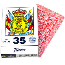 Deck 50 Fournier Spanish Playing Cards Catalan #35 Tuck Case Red Naipe Catalan