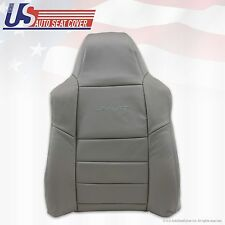2002 2003 Ford F250 350 Driver Top Lean Back Replacement Leather Seat Cover Gray
