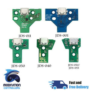 PS4 Controller USB Power Charging Port Board & Cable JDS-055 050 040 030 011 001