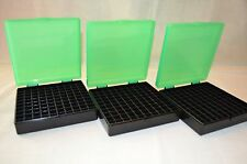 (3) 45 Acp / 40 / 10 Mm 100 Round Plastic Ammo Boxes ( Zombie Green Color)
