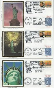 UNITED STATES - ASDA INTERPEX '86 STATUE OF LIBERTY FIRST DAY COVERS FDC