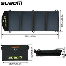 Solar Panel Charger 25W Portable Folding Waterproof Dual USB Port Foldable