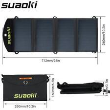 25W Portable Solar Panel Charger Folding Foldable Waterproof Dual USB Port
