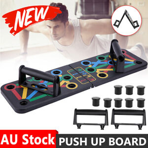 14 in1 Push Up Board Rack Bar Grip Handle Muscle Train Gym Workout Fitness Stand