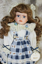 "Stunning Leonardo Collection Porcelain Doll MARGOT in box, 14"" tall"