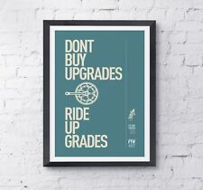 "Cycling motivational print poster ""Up grades' A4 High Quality digital print"