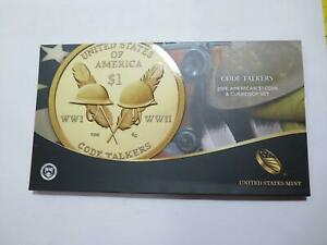 CODE TALKERS 2016 AMERICAN $1 COIN AND CURRENCY SET U.S MINT LOW SERIAL # 🌈⭐🌈