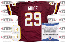 Derrius Guice Signed Washington Pro Style Jersey Beckett Witnessed
