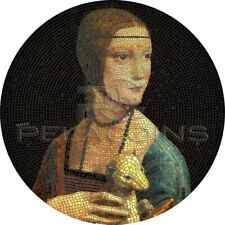 Palau 2020 20$ LADY WITH ERMINE Leonardo da Vinci Great Micromosaic Passion 3oz