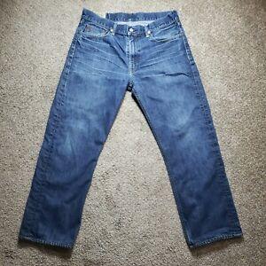 Polo Ralph Lauren 867 Classic Blue Denim Jeans Mens Actual Size 34x28