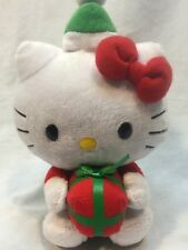 Ty Beanie Baby Hello Kitty Christmas Package 2011 Euc 7.5""
