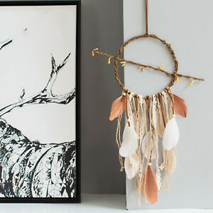 Large Net Boho Dream Catcher Feather Home Wall Art Hanging Decoration Gift
