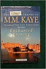 Enchanted Evening M. M. Kaye  large print hardcover