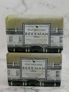 2x New Beekman 1802 Honey & Oats Scrub Bar Goat Milk Soap 9 oz PLEASE READ