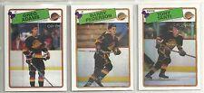 1988-89 O-PEE-CHEE Hockey Vancouver Canucks 10-card Team Set  Barry Pederson