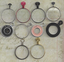 10 Vintage Silver, Gold or Brass, Black other Colored Trial / Optical Lenses