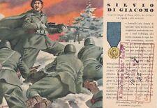 A6269) WW2 GRECIA, M. O. DI GIACOMO DA ACCIANO (AQUILA), 9 REGGIMENTO ALPINI. VG
