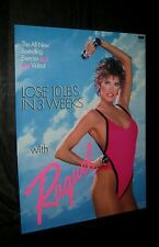 Original 1988 RAQUEL WELCH EXERCISE Video Release Poster - NOT A REPRINT