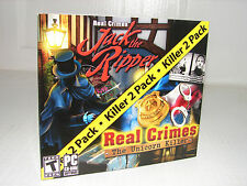 lot of 2 PC Hidden Object Games!  JACK THE RIPPER + REAL CRIMES: UNICORN KILLER