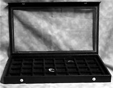 CLEAR TOP 32 EARRING/JEWELRY DISPLAY CASE BLACK