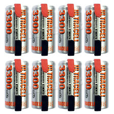8 x Sub C 1.2V 3300mAh NiMH Rechargeable Battery Ultra