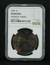 1896 $1 Morgan Silver Dollar - NGC AU DETAILS - Artificial Toning