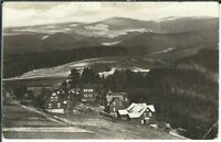 Ansichtskarte Masserberg - Blick nach der Meuselbacher Kuppe - schwarz/weiß