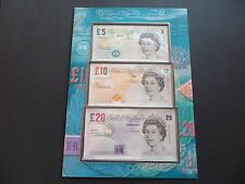 C170 FIRST RUN - LOW MATCHING NUMBER - DEBDEN SET  £20 AA01 , £10 AA01 , £5 HA01