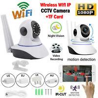 1080P CCTV Night View Wifi 2MP PTZ IP IR Security Camera Baby Pet + TF Card