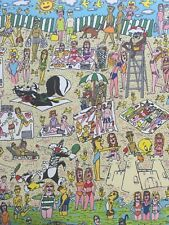 """James Rizzi: original Lithografie """"SOMETIMES IT'S SAND"""", kein 3D, Looney Tunes"""