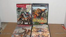 4 USED PLAY STATION 2 GAMES - DISC ONLY
