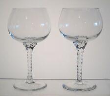 """GENTILE BELKRAFT CRYSTAL Wine or Water Goblets 6 1/4"""" PAIR, Twist Stem"""