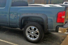 POCKET RIVET BOLT FENDER FLARES FOR 07-13 SILVERADO 1500 EXTENDED CAB - TEXTURED