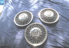 "Vintage 1986-88 Oldsmobile Wire Spokes HUBCAPS HUBCAP 13"" Very Good Condition"