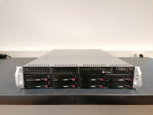 """SUPERMICRO CSE-825 2X XEON E5-2630 V3 64GB DDR4 9271-8i 8X LFF 19"""" SERVER"""
