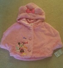 Disney Minnie Mouse Pink Soft Fluffy Sleeveless Jacket. Age 3 Years