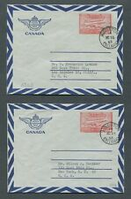 CANADA POSTAL STATIONERY #A20b USED AIR LETTER SHEETS (AEROGRAMMES)
