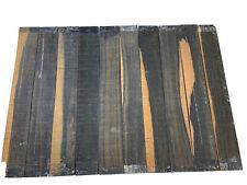 """10 Pieces Lot, Gaboon Ebony Guitar Fingerboard Blanks/ Fretboards 21""""x3""""x3/8�"""